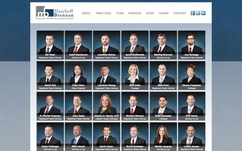 Screenshot of Team Page maschoffbrennan.com captured Sept. 30, 2014