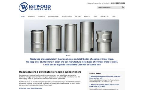 Screenshot of Home Page westwoodcylinderliners.co.uk - Welcome to Westwood Cylinder Liners - captured Oct. 20, 2017