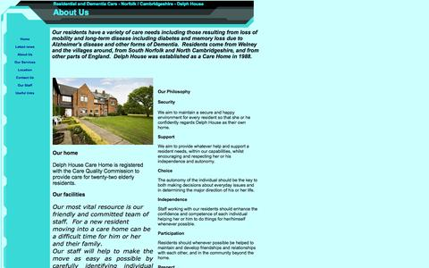 Screenshot of About Page delph-house.co.uk - About Us - captured Sept. 30, 2014