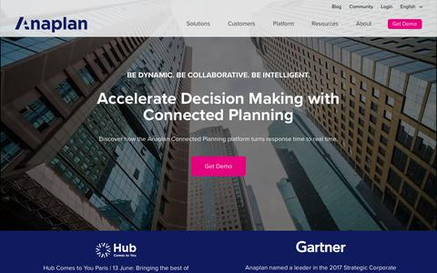Anaplan | Driving a new age of connected planning