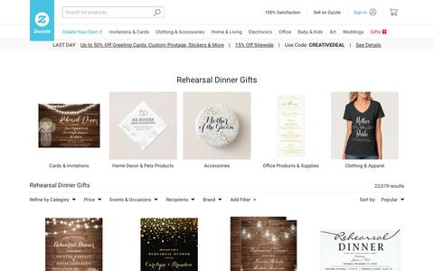 Rehearsal Dinner Gifts on Zazzle