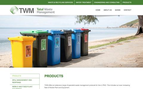 Screenshot of Products Page twm.com.pg - PRODUCTS - TWM - captured June 7, 2018