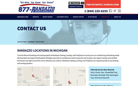 Screenshot of Locations Page callrandazzo.com - Locations - captured Nov. 15, 2018