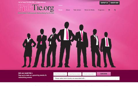 Screenshot of Home Page pinktie.org - Pink Tie.org | Real Estate Professionals Networking For A Cure - captured Oct. 2, 2014
