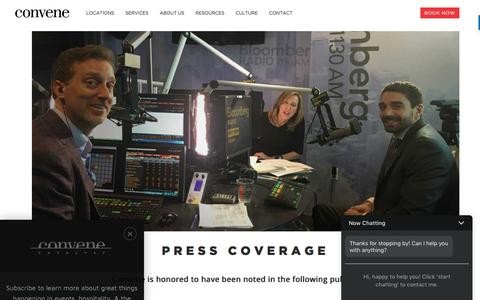 Screenshot of Press Page convene.com - Press Page - Convene - captured May 4, 2017