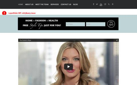 Screenshot of Home Page theguidetostyle.com - The Guide to Style - captured Jan. 11, 2016