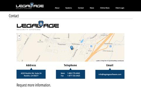 Screenshot of Contact Page legalagesoftware.com - Contact Legal Age - captured Sept. 28, 2018