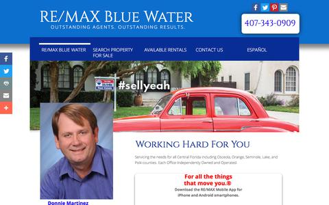 Screenshot of Home Page mybluewaterrealty.com - Re/max Blue Water - Real Estate, Property Management, Real Estate For Sale - captured Oct. 10, 2017