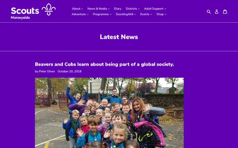 Screenshot of Press Page merseysidescouts.com - Latest News – Merseyside Scouts - captured Oct. 22, 2018