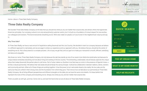 Screenshot of About Page threeoaksrealtycompany.com - Three Oaks Realty Company - Three Oaks Realty Company - captured Nov. 17, 2017