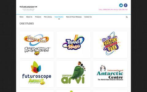 Screenshot of Case Studies Page simworx.co.uk - Simworx | Case Studies - captured Sept. 17, 2014