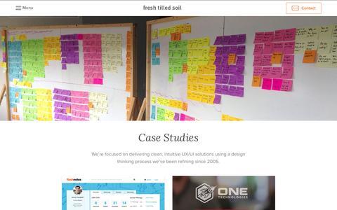 Screenshot of Case Studies Page freshtilledsoil.com - User Experience Design Firm Case Studies | Fresh Tilled Soil - captured Sept. 19, 2014