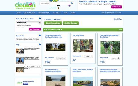 Screenshot of Home Page dealon.com.au - DealOn.com.au - Australia Best Deals Voted By You - DealOn.com.au - captured Oct. 5, 2014