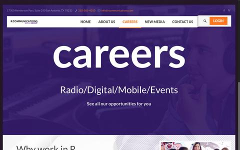 Screenshot of Jobs Page rcommunications.com - Work Here – R Communications - captured Jan. 24, 2017