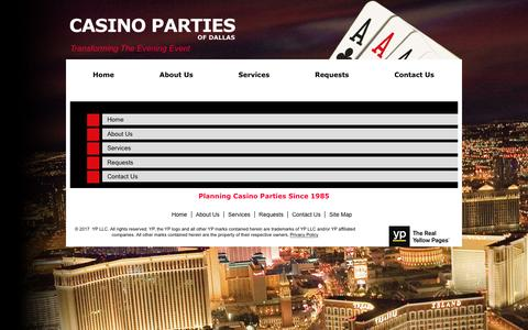 Screenshot of Site Map Page casinopartiesofdallas.com captured May 15, 2017
