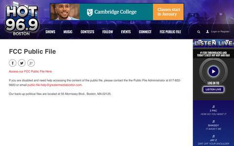 FCC Public File - HOT 96.9 Boston