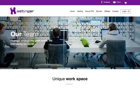 Screenshot of Team Page hostinger.co.uk - Hostinger Team - captured May 21, 2016