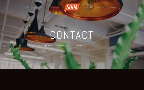 Screenshot of Contact Page soda.com - Contact — Soda - captured Oct. 26, 2017
