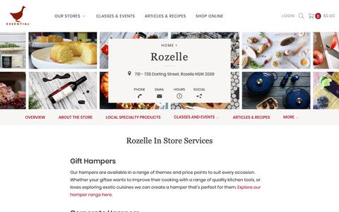 Screenshot of Services Page essentialingredient.com.au - Rozelle In Store Services - The Essential Ingredient - captured Oct. 18, 2018
