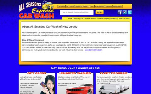 Screenshot of About Page allseasonscarwashnj.com - About All Seasons Car Wash of New Jersey - captured Nov. 12, 2018