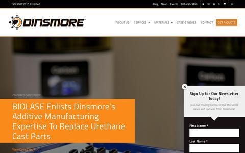 Screenshot of Case Studies Page dinsmoreinc.com - Case-Studies Archive - Dinsmore Inc. - captured Dec. 15, 2018