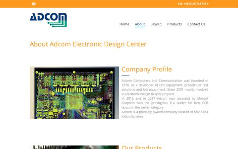 Screenshot of About Page adcom.co.il - Adcom Computers and Communication  |  about - captured Oct. 3, 2018