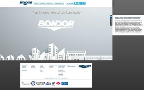 Screenshot of Home Page Products Page bondor.com.au - Bondor Australia - Insulated Panels & Architectural Facades: Home   Bondor Insulated Panels   1300 300 099 - captured Sept. 30, 2014