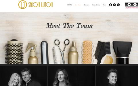 Screenshot of Team Page salonlujon.com - Salon Lujon-Our Team - captured Oct. 1, 2018