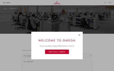 Screenshot of Contact Page omegawatches.com - Contact us  | OMEGA® - captured Nov. 10, 2018