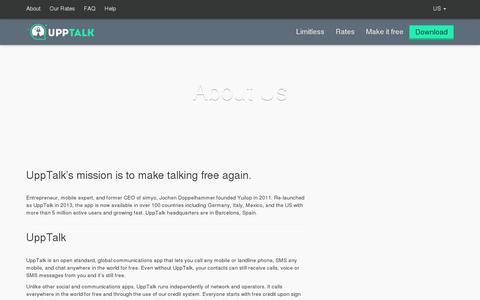 Screenshot of About Page upptalk.com - About Upptalk | Upptalk - captured July 20, 2014