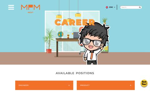 Screenshot of Jobs Page mpm-rent.com - Career | MPM Rent, We Serve You Better - captured Sept. 26, 2018