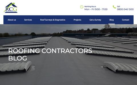Screenshot of Blog roofingconsultantsgroup.com - Our Blog - Keep Up To Date - Roofing Consultants Group - captured Sept. 24, 2018