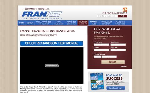 Screenshot of Testimonials Page frannet.com - Franchise Consultant Reviews - FranNet - Local. Trusted Franchisee Experts - captured July 2, 2016
