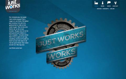 Screenshot of Home Page justworks.nl - Just Works - captured Sept. 30, 2014