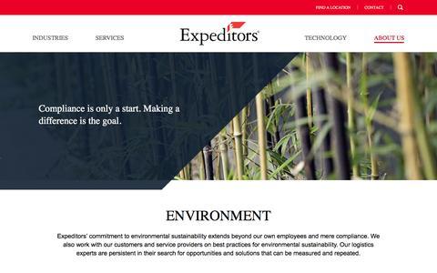 Environment | Expeditors International of Washington, Inc.