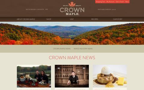 Screenshot of Press Page crownmaple.com - Crown Maple News | Crown Maple - captured Nov. 2, 2014