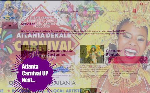 Screenshot of Services Page trudynasty.com - Services | Ontario | TruDYNASTY Carnival Inc. - captured Nov. 19, 2018