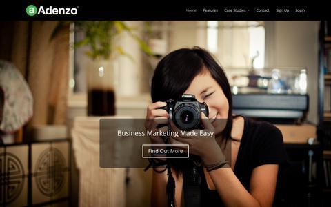 Screenshot of Home Page adenzo.com - Home - Adenzo Main Site - captured Jan. 27, 2015