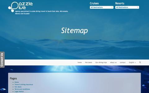 Screenshot of Site Map Page dazzle-dive.com - Sitemap - captured Oct. 16, 2017