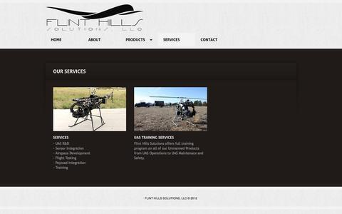 Screenshot of Services Page fhsllc.com - Flint Hills Solutions - Services - captured Oct. 6, 2014