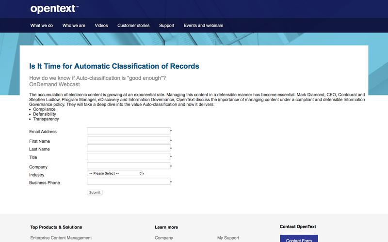 Contoural OpenText AutoClass Webinar