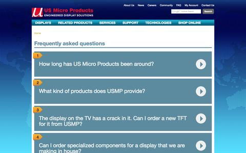 Screenshot of FAQ Page usmicroproducts.com - Frequently asked questions   US Micro Products - captured Sept. 30, 2014