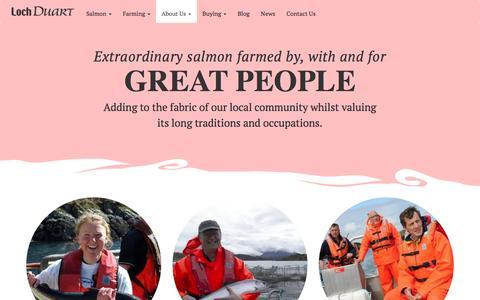 Screenshot of Team Page lochduart.com - Loch Duart - captured Jan. 31, 2016