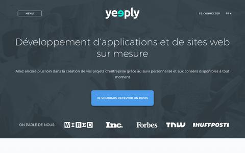 Yeeply: Créer une application, un jeu mobile ou un site internet