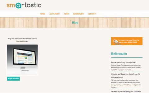 Screenshot of Blog smartastic.de - Blog - captured Nov. 2, 2014