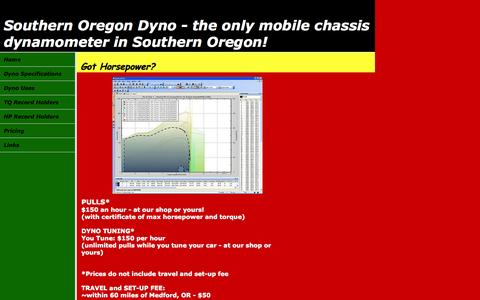 Screenshot of Pricing Page sodyno.com - Southern Oregon Dyno - the only mobile chassis dynamometer in Southern Oregon! - captured Oct. 7, 2014