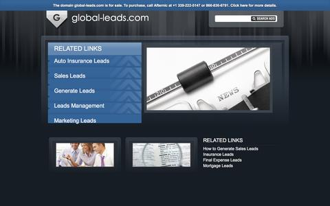 Screenshot of Home Page global-leads.com - global-leads.com - captured Jan. 29, 2016