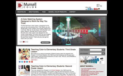 Screenshot of Home Page munsell.com - Munsell Color System; Color Matching from Munsell Color Company | - captured Oct. 22, 2017