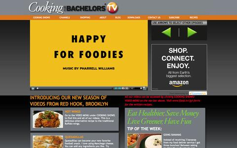 Screenshot of Home Page Terms Page cookingforbachelors.tv - COOKING FOR BACHELORS TV — LEARN TO COOK — FREE COOKING VIDEOS — COOKING CLASSES - captured Oct. 2, 2014