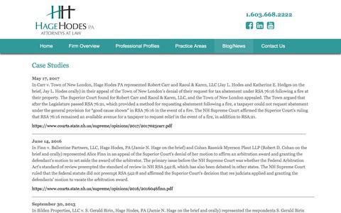 Screenshot of Case Studies Page hagehodes.com - Case studies - Hage Hodes - captured Sept. 26, 2018